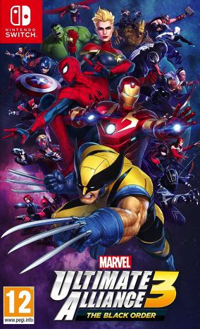 Copertina del gioco Marvel Ultimate Alliance 3: The Black Order per Nintendo Switch