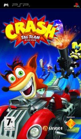 Immagine della copertina del gioco Crash Tag Team Racing per PlayStation PSP