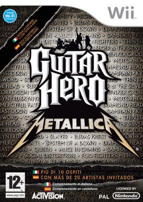 Immagine della copertina del gioco Guitar Hero: Metallica per Nintendo Wii