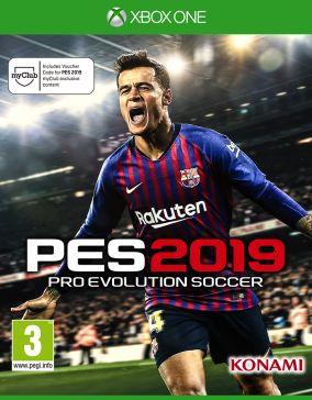 Immagine della copertina del gioco Pro Evolution Soccer 2019 per Xbox One