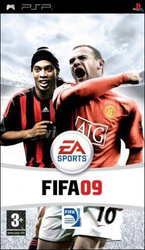 Immagine della copertina del gioco FIFA 09 per Playstation PSP