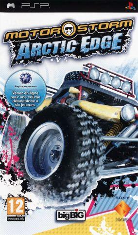 Immagine della copertina del gioco MotorStorm: Arctic Edge per PlayStation PSP