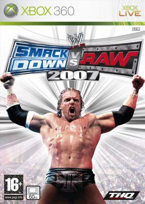 Copertina del gioco WWE Smackdown vs. RAW 2007 per Xbox 360