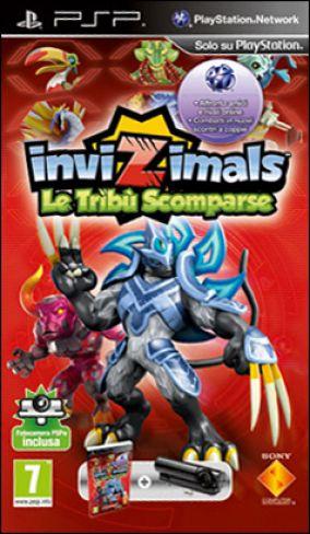 Copertina del gioco Invizimals Le Tribu scomparse per PlayStation PSP
