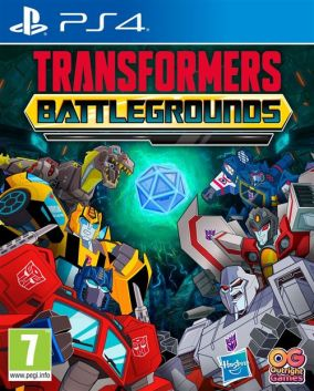 Copertina del gioco Transformers: Battlegrounds per PlayStation 4