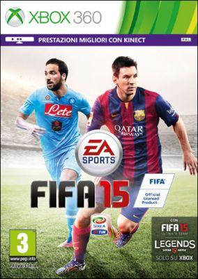 Immagine della copertina del gioco FIFA 15 per Xbox 360