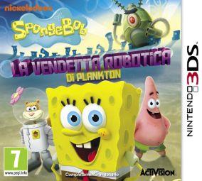 Immagine della copertina del gioco SpongeBob SquarePants: La Vendetta Robotica di Plankton per Nintendo 3DS