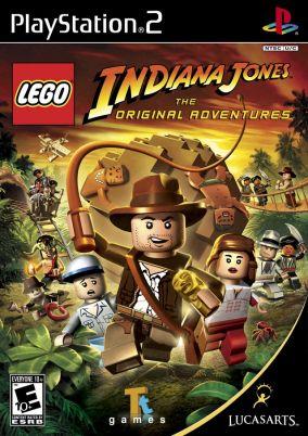 Copertina del gioco LEGO Indiana Jones: Le Avventure Originali per PlayStation 2