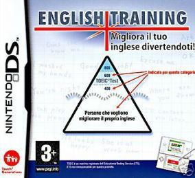 Immagine della copertina del gioco English Training: Migliora il tuo inglese divertendoti per Nintendo DS