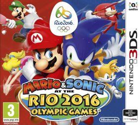 Copertina del gioco Mario & Sonic ai Giochi Olimpici di Rio 2016 per Nintendo 3DS