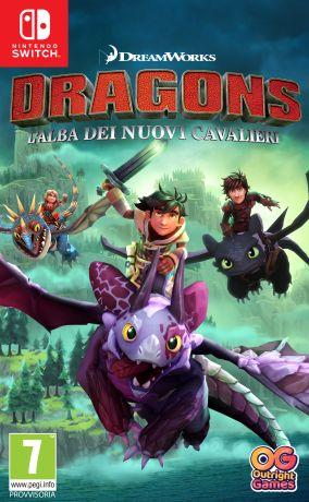 Immagine della copertina del gioco DreamWorks Dragons: L'alba dei nuovi cavalieri per Nintendo Switch