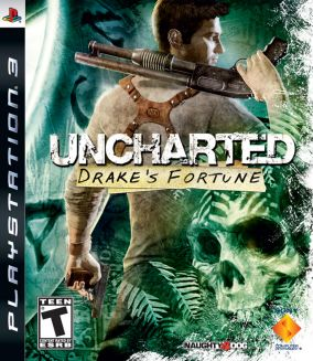 Copertina del gioco Uncharted: Drake's Fortune per PlayStation 3