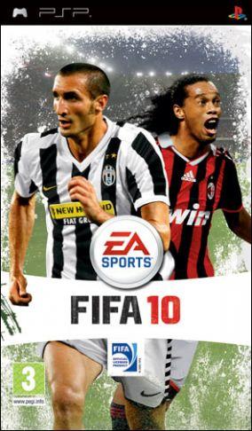 Immagine della copertina del gioco FIFA 10 per PlayStation PSP