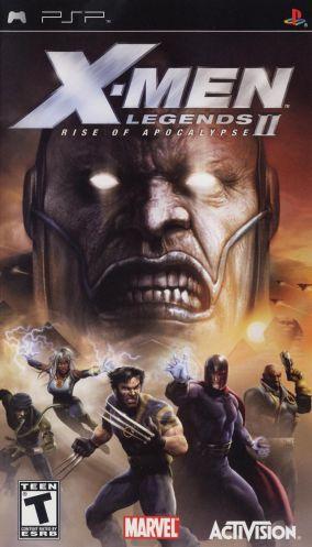 Immagine della copertina del gioco X-Men Legends II: Rise of Apocalypse per PlayStation PSP