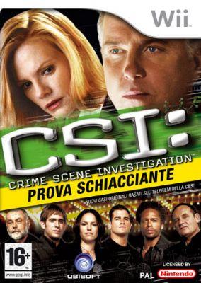 Immagine della copertina del gioco CSI: Prova Schiacciante per Nintendo Wii