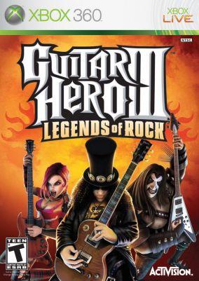 Copertina del gioco Guitar Hero III: Legends Of Rock per Xbox 360