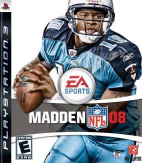 Immagine della copertina del gioco Madden NFL 08 per PlayStation 3