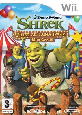 Immagine della copertina del gioco Shrek Tutti al Luna Park per Nintendo Wii