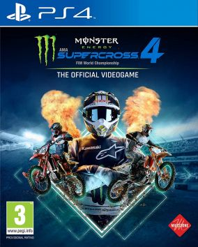 Copertina del gioco Monster Energy Supercross - The Official Videogame 4 per PlayStation 4