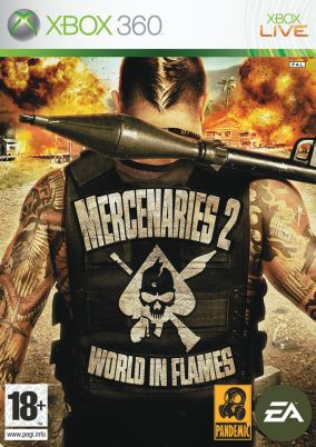 Copertina del gioco Mercenaries 2 Inferno Di Fuoco per Xbox 360