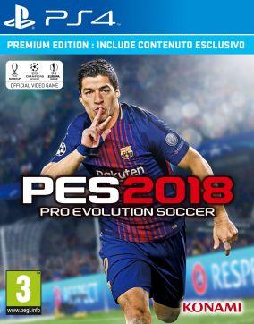 Immagine della copertina del gioco Pro Evolution Soccer 2018 per PlayStation 4