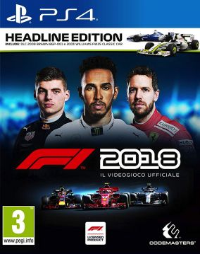 Copertina del gioco F1 2018 per PlayStation 4