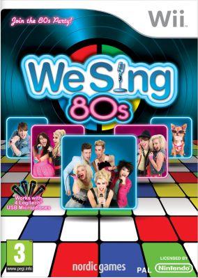Immagine della copertina del gioco We Sing 80s per Nintendo Wii