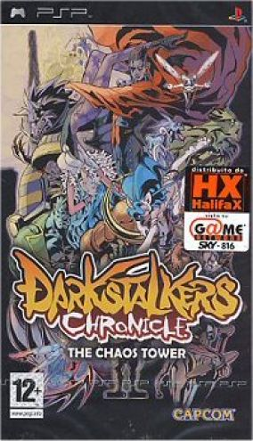 Immagine della copertina del gioco Darkstalkers Chronicle: The Chaos Tower per PlayStation PSP