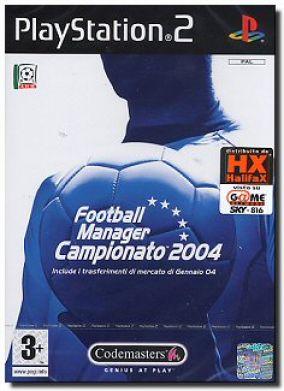 Copertina del gioco Football Manager Campionato 2004 per PlayStation 2