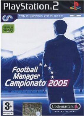 Copertina del gioco Football Manager Campionato 2005 per PlayStation 2