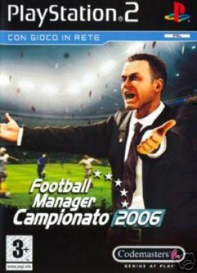 Copertina del gioco Football Manager Campionato 2006 per PlayStation 2