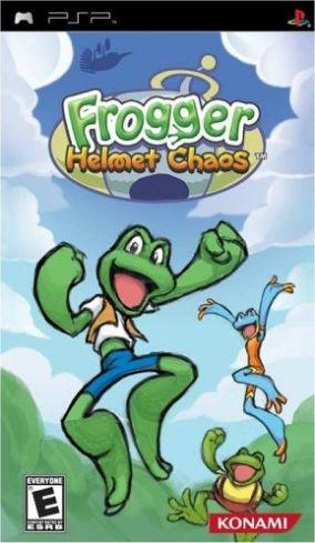 Immagine della copertina del gioco Frogger helmet chaos per PlayStation PSP