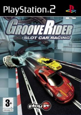 Immagine della copertina del gioco GrooveRider slot car racing per PlayStation 2