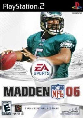 Immagine della copertina del gioco Madden NFL 06 per PlayStation 2