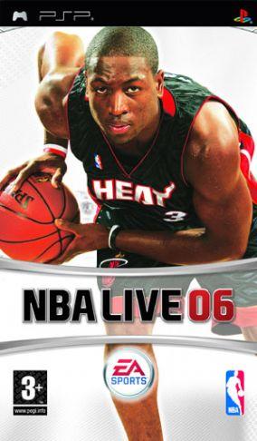 Immagine della copertina del gioco NBA LIVE 2006 per PlayStation PSP