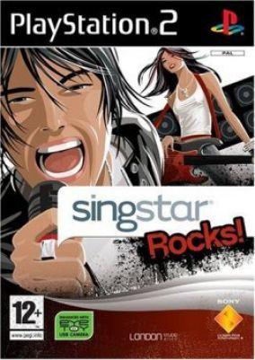 Immagine della copertina del gioco SingStar Rocks! per PlayStation 2