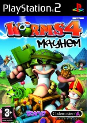 Immagine della copertina del gioco Worms 4 Mayhem per PlayStation 2