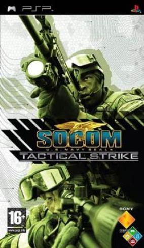 Immagine della copertina del gioco SOCOM U.S. Navy SEALs Tactical Strike per PlayStation PSP