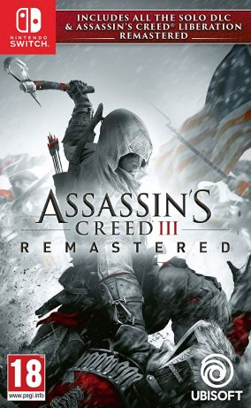 Copertina del gioco Assassin's Creed III Remastered per Nintendo Switch