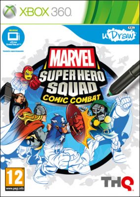 Copertina del gioco Marvel Super Hero Squad: Comic Combat - uDraw per Xbox 360