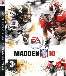 Immagine della copertina del gioco Madden NFL 10 per PlayStation 3