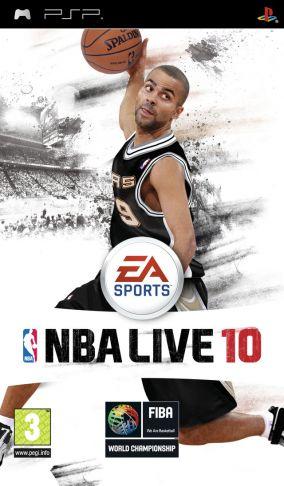 Immagine della copertina del gioco NBA Live 10 per PlayStation PSP