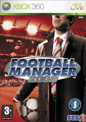 Copertina del gioco Football Manager 2008 per Xbox 360