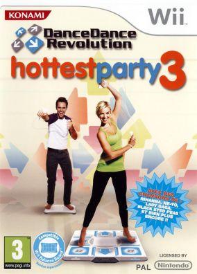Immagine della copertina del gioco Dance Dance Revolution Hottest Party 3 per Nintendo Wii