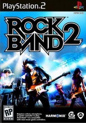 Immagine della copertina del gioco Rock Band 2 per PlayStation 2