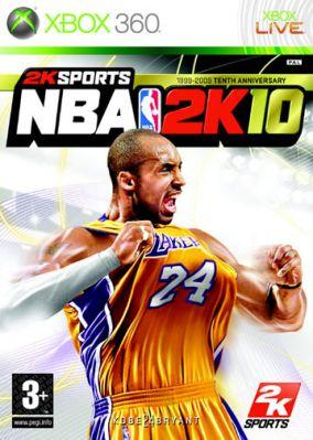 Immagine della copertina del gioco NBA 2K10 per Xbox 360