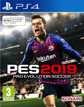 Immagine della copertina del gioco Pro Evolution Soccer 2019 per PlayStation 4