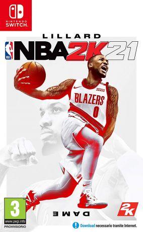 Copertina del gioco NBA 2K21 per Nintendo Switch
