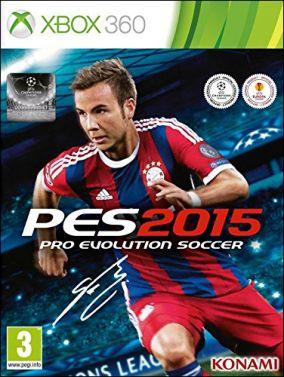 Immagine della copertina del gioco Pro Evolution Soccer 2015 per Xbox 360