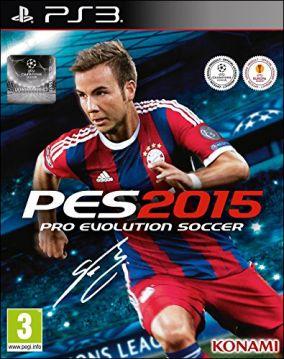 Immagine della copertina del gioco Pro Evolution Soccer 2015 per PlayStation 3